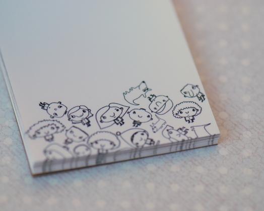Plėšomų lapelių bloknotas mažiems užrašams